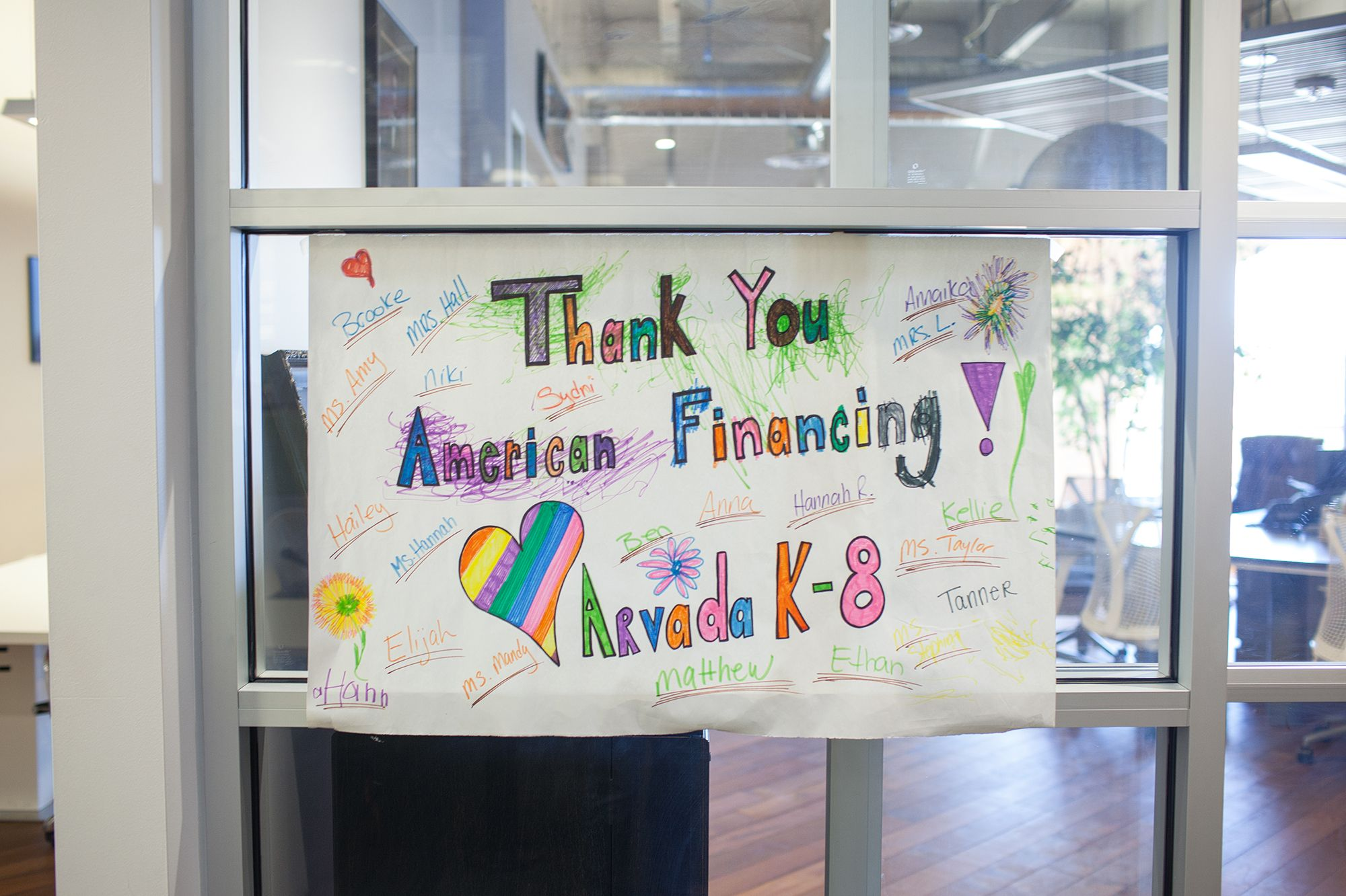Arvada K-8 school thank you sign