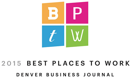 Denver Business Journal Best Places to Work award 2015