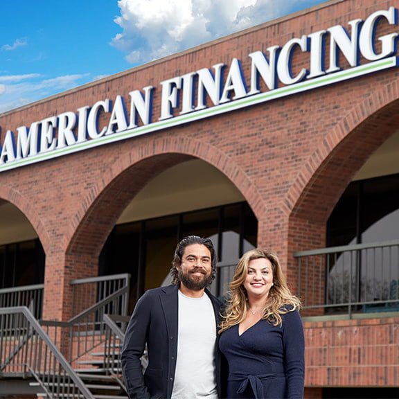 Damian and Gabie Maldonado in front of AFC