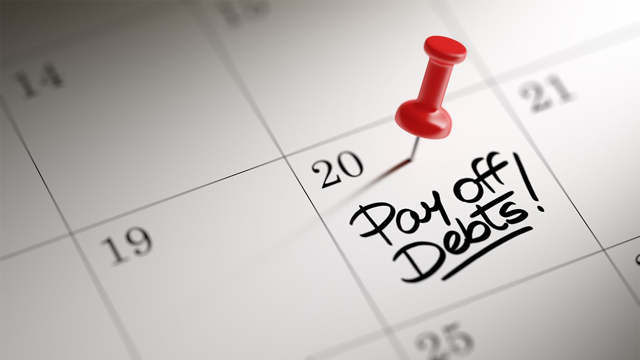 Calendar on 20th day noting pay of debts date
