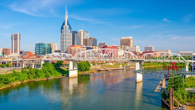Nashville city skyline during the day
