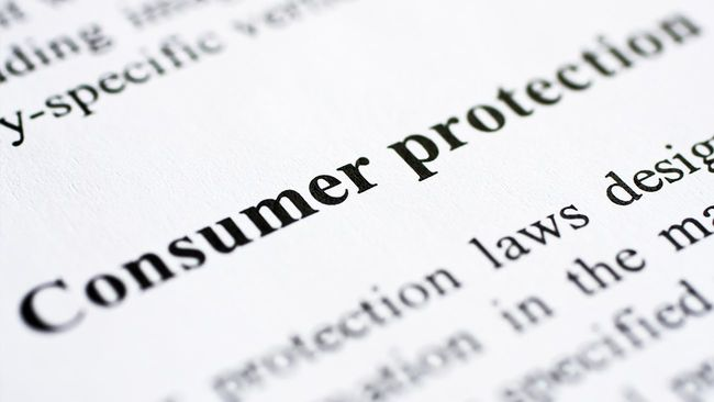 Consumer protection page text