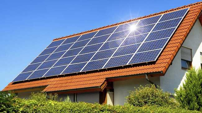 HERO financed solar panel home