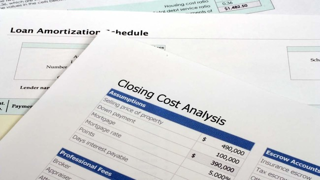 Closing cost analysis of home