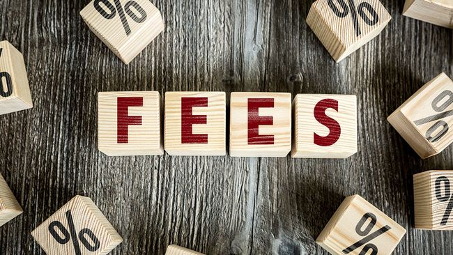 Block letters that spell fees