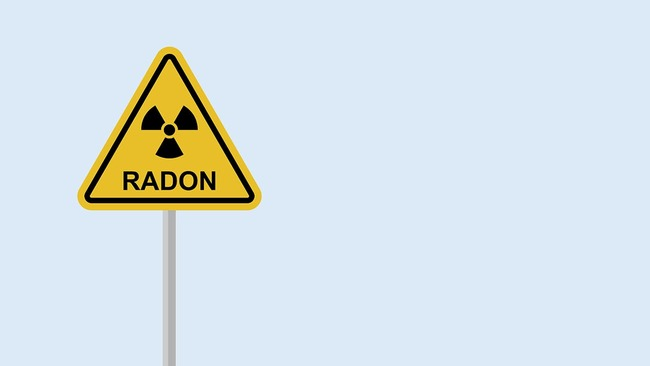 Sign for high levels of radon