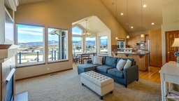 Staging your living room for a real estate open house.