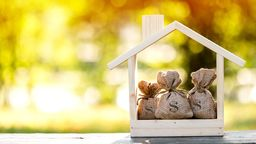Home Equity Bags Inside Small Wooden House