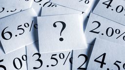 Question Mark and Interest Rate Cards