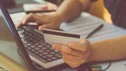 Making an online purchase with a credit card