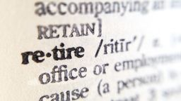 Definition of the word retire
