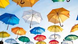 Umbrellas hanging